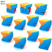 MOYU Meilong Magic Cube stickerless 2x2 3x3 4x4 5x5 6x6 7x7 8x8 9x9 10x10 11x11 12x12 Megaminx Speed Puzzle Cubes Toys Gift