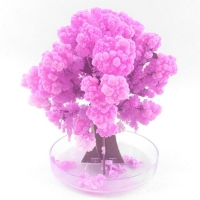 90mm H Visual Magic Artificial Sakura Trees Decorative Growing DIY Paper Tree Gift Novelty Baby Toy Flower Hot Exploring Science