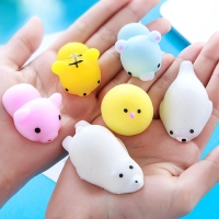 1pc Antistress Ball Mini Squeeze Toys Squishy Cat Slow Rising Doll Stretchy Animal Healing Stress Hand Fidget Vent Toy Fun Gift