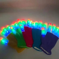 LED Gloves Glowing Halloween Outdoor Party Light Props Luminous Flashing Magic Gloves Stage Christmas Supplies Toys For Children