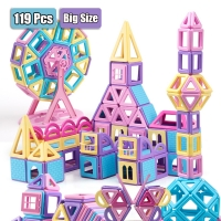 119PCS Big Size Magnets Magic Building Blocks Construction toys for Children Educational  Magnetic Blocks Set Puzzle Toy For Kid