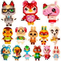 22 styles Animal Crossing Blocks Raymond 3D Model DIY Mini Diamond Blocks Bricks Building Toy for Children Gift legoeing