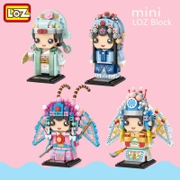 LOZ Chinese Peking Opera Characters Blocks Kids Juguetes Classic Action Figures Assembly Creator Building Bricks Girls Boys Toys