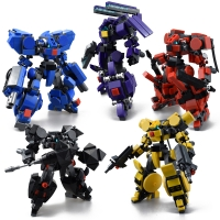Original Design Mech Warrior Building Blocks Toys For Children Armor Robots Anime Figure Model Kids Action Figure Dolls Toy