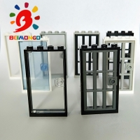 Free Shipping!BEIMONGO Building Block MOC 30179*Frame1x4x6*Door 1x4x6*Glass for Frame1x4x6*20pcs DIY Kid Toys can be compatibled