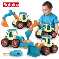 Nut Disassembly Engineering Truck Building Blocks Bulldozer Kids Screw Boys Creative Tool Education Toys Car Model For Boy