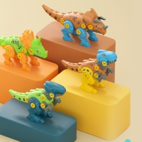 Early Learning Education Toys For Children Disassembly Dinosaur Cartoon Animal Assembled Blocks Screw Nut Disassembly Toys