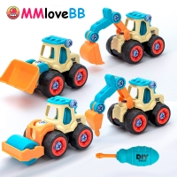 Nut Disassembly Tools Toy Drill Truck Excavator Bulldozer Child Pretend Play Boy Creative Tool Education Gifts For Boy Car Model
