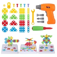 DIY Electric Drill Screw Nut Disassembly Accessories Game Creative Kids Puzzle Toys Educational For Children Boys Building Brick