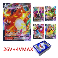 30PCS Pokemon Cards V Vmax Shining Card English Sword Shield Booster Box Collection Trading Game Card For Childer Kids Toy Gift