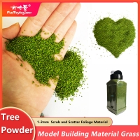 30g 1-2mm  Scrub and scatter foliage material wooden tree powder leaves scale model building material grass miniature dioramas