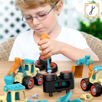 Children DIY Toys Engineering Vvehicle Disassembly Toys Kindergarten Fun Puzzle Games Educational Toys For Children Boy Gift