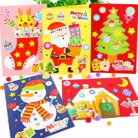 NEW christmas decoration crafts card kindergarten lots arts crafts diy toys Puzzle crafts kids for children's toys girl/boy gift