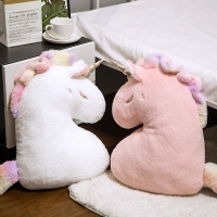 50cm Cute Soft Plush Unicorn Pillow Toy Kawaii Stuffed Plushie Animals Pink White Cushion Pillows Kids Girls Gift Home Decor