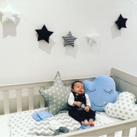 Hot Sale Nordic Stars and Moon String Ornaments Children's Room Crib Tent Bed with Decoration 5 Stars String Wall Hanging Stuff