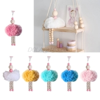 1-2 Pcs Nordic Style Ballet Dancer Hanging Decoration Wooden Beads Girl Room Decor Nursery Baby Tent Ornament Photography Props