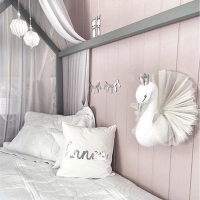 Kids Room Decoration 3D Animal Heads Swan Wall Hanging Decor For Children Room Nursery Room Decoration Soft Install Game House