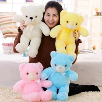 30cm Light Up Plush Teddy Bear Plush LED Stuffed Animals Soft Toys Light Colorful Glowing Christmas Gift for Kid Plush Pillow