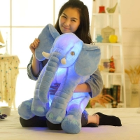 1 pcs 50cm Stuffed Elephant Toy Glowing Music Elephant For Baby Pillow  Plush Toy Stuffed Animals Kawaii Sofa Bed Baby Pillow