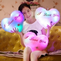 Creative Luminous Pillow Soft Stuffed Plush Toy Glowing Led Light Colorful Stars Cushion Boys Girls Birthday Gifts Toys For Kids