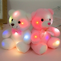 20cm Colorful Glowing Teddy Bear Stuffed Animals Doll Kids Birthday Christmas Gifts Creative Plush Light up Toy