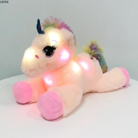 1Pcs Toys for Children Plush Toy Tool Soft Present Birthday Party Gift Light Up LED Stuffed Animals Unicorn Toy Colorful Glowing
