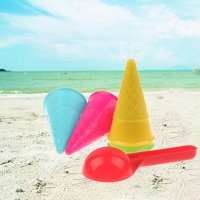 5 Pcs/lot Cute Ice Cream Cone Scoop Sets Beach Toys Sand Toy for Kids Children Educational Montessori Summer Play Set Game Gifts