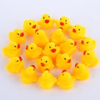 20-300pcs Baby Bath Ducks Shower Water Toys Swimming Pool Float Squeaky Sound Rubber Ducks Toys for Childre Gifts