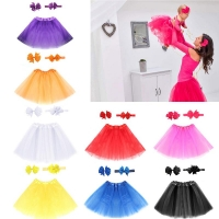 Hot Newborn Infant Girls Sweet Cute Tutu Skirt & Headband Hair Clip Set Photography Props Outfit Sets Baby Clothing Dropshipping