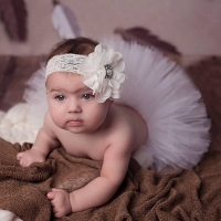 Hot Sale Newborn Baby Girls Tutu Infant Photography Props Toddler Skirt & Lace Headband Set Children Princess Summer Gown TS049