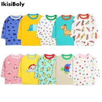 Autumn Baby Girls Boys Cotton Infants Tops Long-Sleeved 5-Pack T-Shirts Summer Toddler Casual Cartoon Designer Newborn Clothing