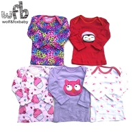 Retail 5pcs/pack 0-24months long-Sleeved t shirt Baby Infant cartoon newborn clothes for boys girls cute Clothing spring fall