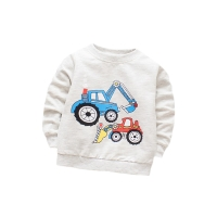 Cotton T-shirt With Long Sleeves Cartoon T-shirts For Boys O-neck Top Baby Girls First Birthday Outfit Children's Clothes Tees