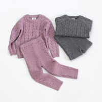 0-4Y Baby Clothing Set Autumn Knitted Baby Clothes Newborn Long Sleeve Infant Outfits Baby Sweater Tops +Pants Baby Boys Clothes