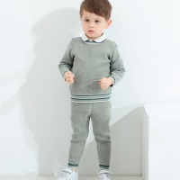 Baby Boy Knitted Clothes Set Children Knit Pullover + Pants Autumn Winter Toddler Knitwear Outfits infant Knitting Sweaters