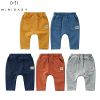 Newborn Baby Long Pants Spring And Autumn Baby Boys & Girls Pure Color Cotton Long Pants Comfortable Fabric Fashion Sport Pants