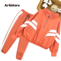 Girls Sport Clothes Striped Clothing For Girls Coat + Pants 2PCS Clothes Girl Teenage Children's School Clothing 6 8 10 12 14