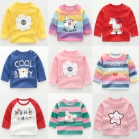 Toddler Girls Clothes Cotton Tops Children Cartoon Long Sleeve Girl Kids T-shirt  Baby Boys Baby Boy Outfit Pullover T-shirt