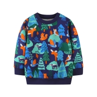 Jumping Meters New New Forest Animals Print Children Sweatshirts 2020 Cotton Autumn Kids Sport Shirts for Boys Girls Costume