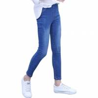 Girls Jeans Slim Skinny Kids Jeans For Girls Stretch Pencil Pants Kids Jeans Autumn Novelty Jeans Pants For Girls 6 8 10 12 14