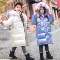 Warm 80% White duck down Jacket for Girl Winter clothes children's Thicken Outerwear clothing parka faux fur coat snowsuit 5-16Y