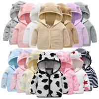 Children's Flannel Clothing hooded jacket for girls 2020 Thick Warm jacket for a boy Newborn Clothes Coat Baby girl Clothes 0-6Y