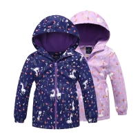 Children Outerwear Warm Polar Fleece Coat Hooded Kids Clothes Waterproof Windproof Baby Girls Jackets For Autumn Spring 3-12Y