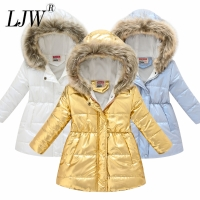 New Fashion Girls' jackets Winter Jacket For Girls Kids Cotton Jacket Hooded Coats & Parkas Thick Kids Coat Boy Clothes 3-10t