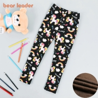 Bear Leader Girls Leggings Autumn and Winter Thicken Warm Girl Pants Kids Fashion Costume Children Girl Clothing for Winter 3-8T