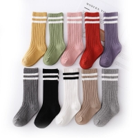 1-9 Years Kids Boys Toddlers Girls Socks Knee High Long Soft Cotton Baby Socks Stripped Children Socks School Clothes
