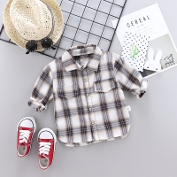 Kids Plaid Shirts Trendy Hot Sale Children Kid Boys Girls Long Sleeve Buttons Pocket Tops Shirt Turn Down Collar Casual Blouses