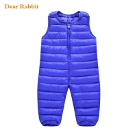 New Baby Children's Warm Strap Pant for Girls Boys Winter Down-Cotton Jumpsuit Overalls Suit 2020 Kids Casual Romper Clothes Set