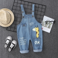 Spring Autumn Children Clothes Baby Boys Girls Cartoon denim Pants overalls Infant Outfit Kids giraffe Fashion Toddler Casual