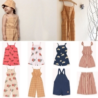 2020 New Arrivals TAO Children Girls Fashion Overalls Cute Summer Sling Overall Toddler Girl Summer Clothes Beautiful Hawaii